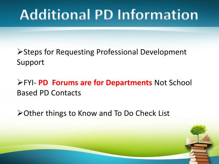 Additional PD Information