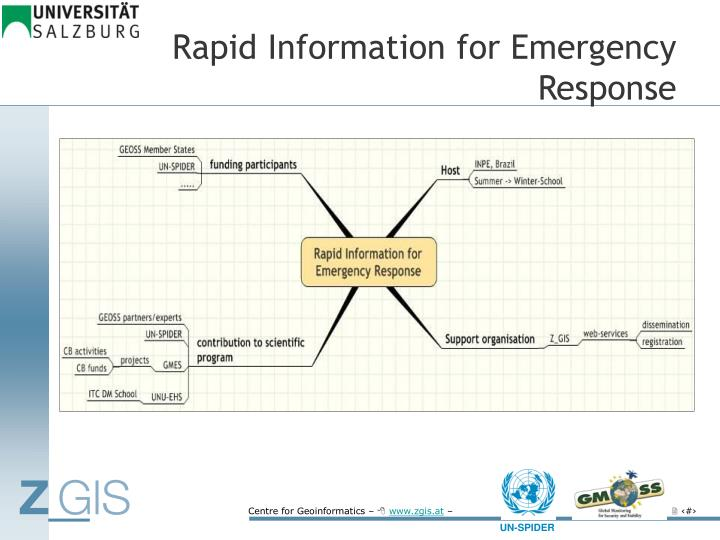 Rapid Information for Emergency Response