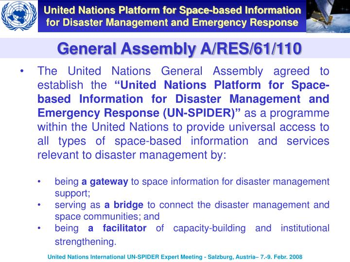 General Assembly A/RES/61/110