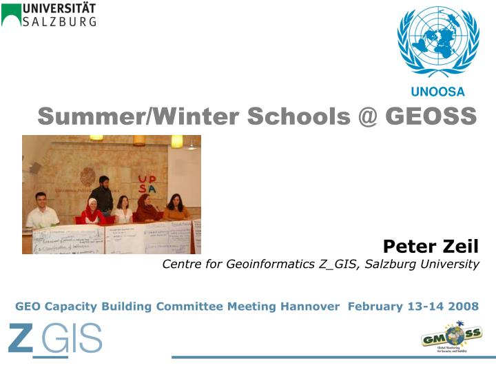 Summer winter schools @ geoss