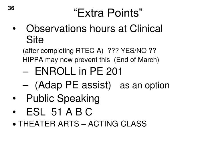 Observations hours at Clinical Site