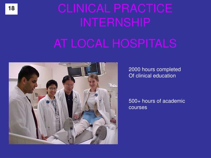 CLINICAL PRACTICE  INTERNSHIP