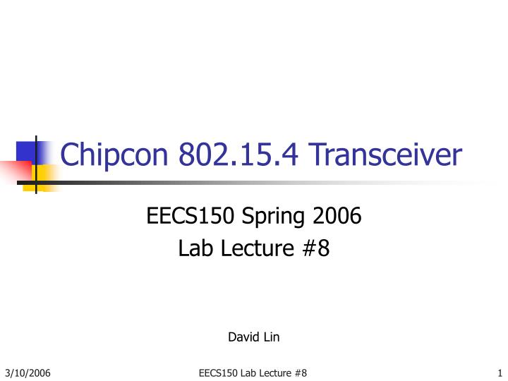 Chipcon 802 15 4 transceiver