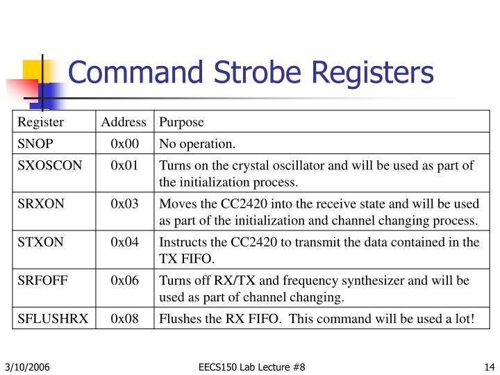 Command Strobe Registers