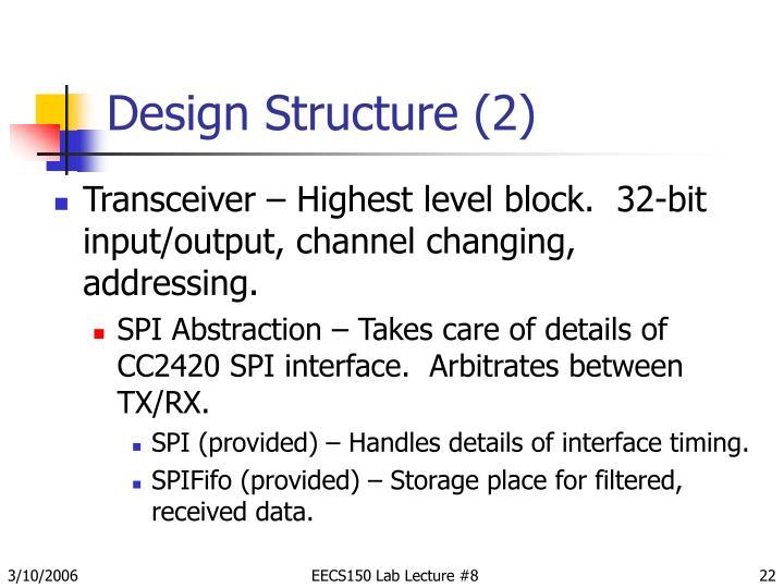 Design Structure (2)