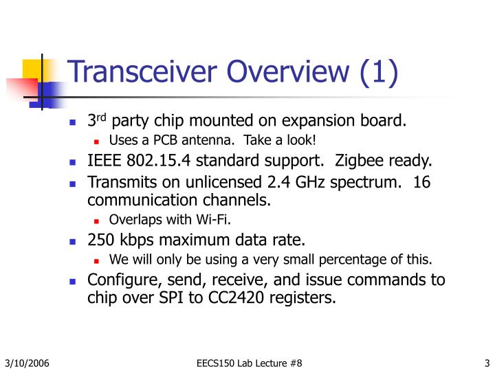 Transceiver overview 1