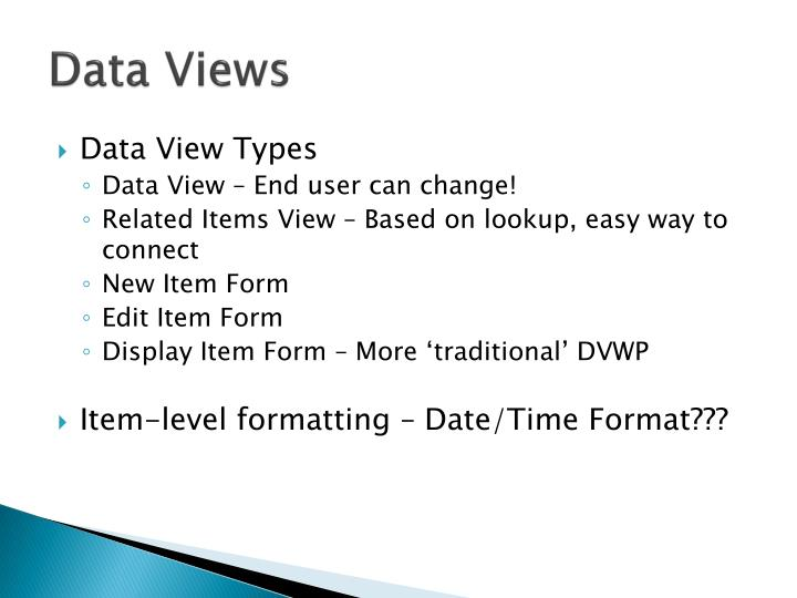 Data Views
