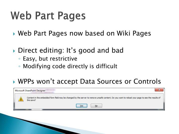 Web Part Pages