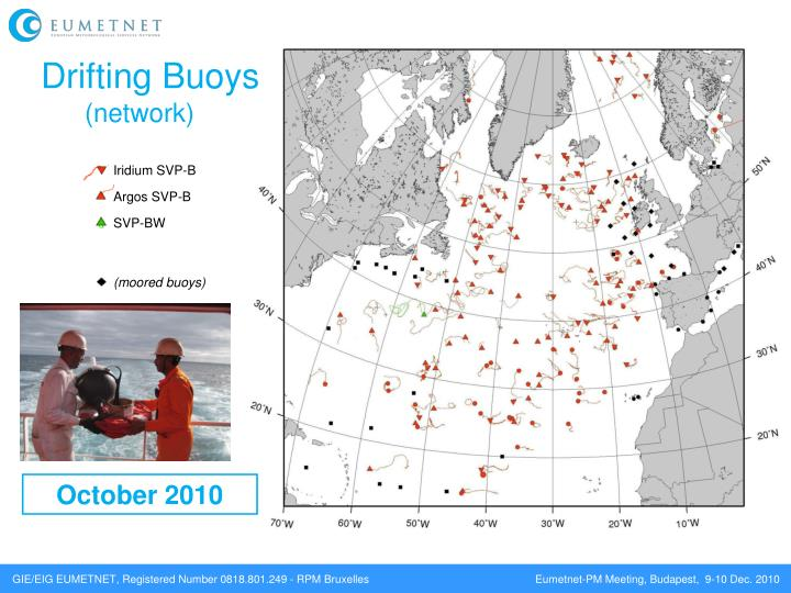 Drifting buoys network