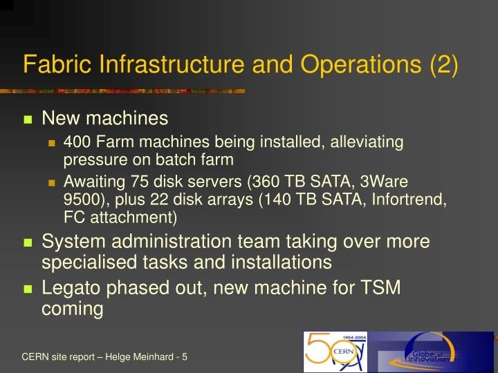 Fabric Infrastructure and Operations (2)