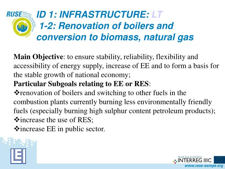 ID 1: INFRASTRUCTURE: