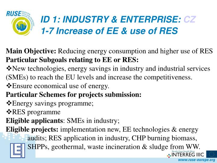 ID 1: INDUSTRY & ENTERPRISE:
