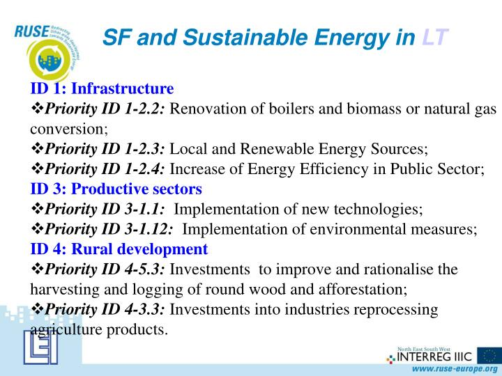 SF and Sustainable Energy in