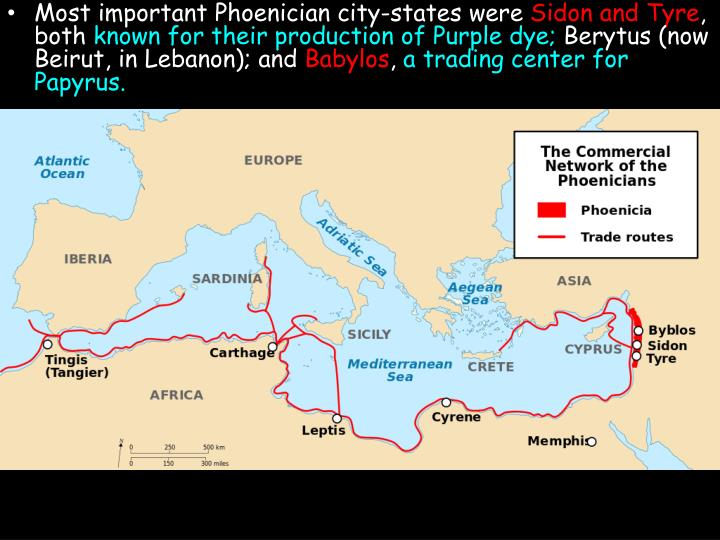 Most important Phoenician city-states were