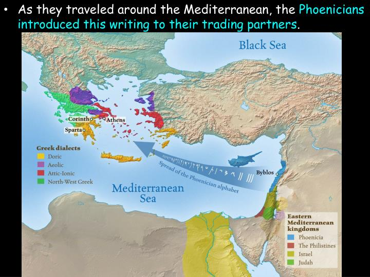 As they traveled around the Mediterranean, the