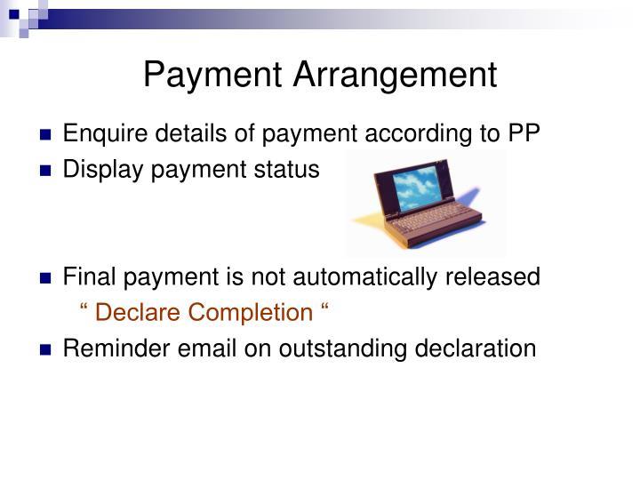 Payment Arrangement