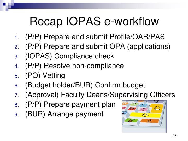 Recap IOPAS e-workflow