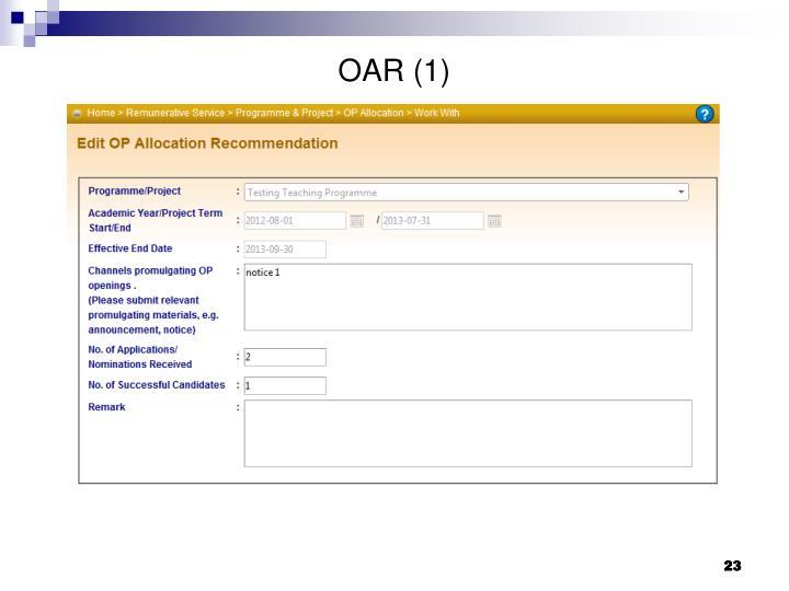 OAR (1)