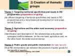 2 creation of thematic groups