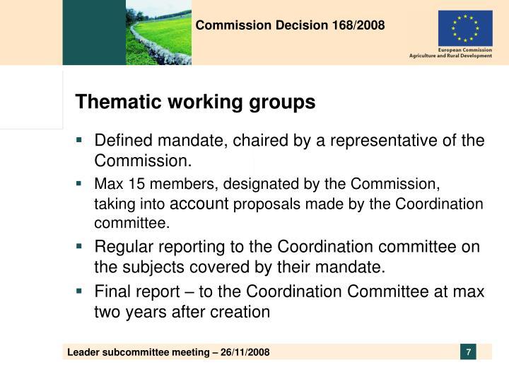 Commission Decision 168/2008