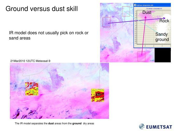Ground versus dust skill