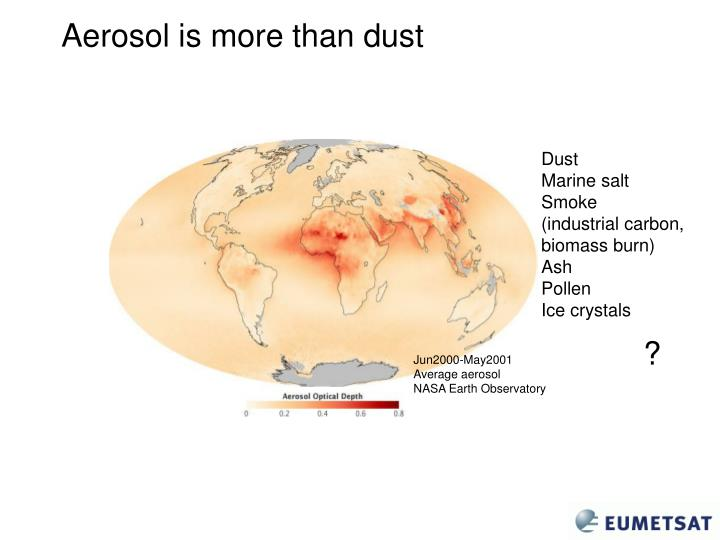Aerosol is more than dust