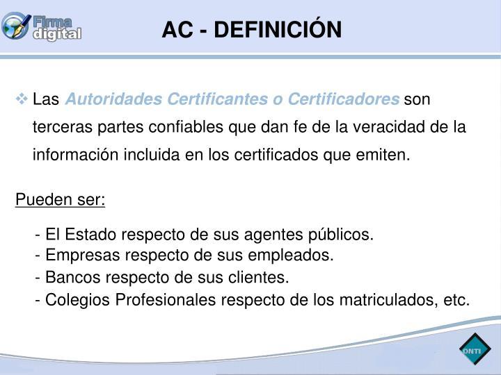 AC - DEFINICIÓN