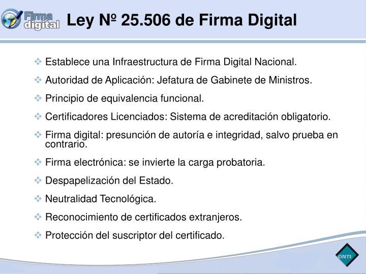 Ley Nº 25.506 de Firma Digital