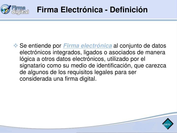 Firma Electrónica - Definición