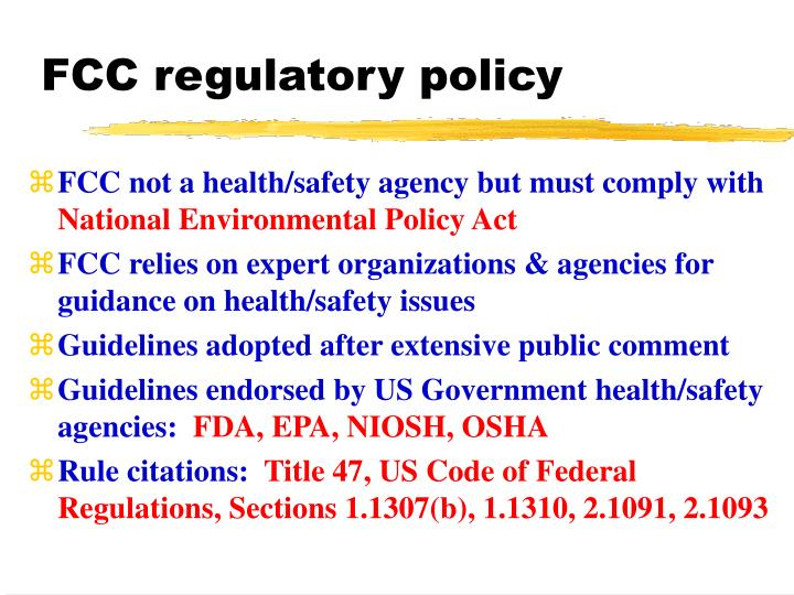 FCC regulatory policy