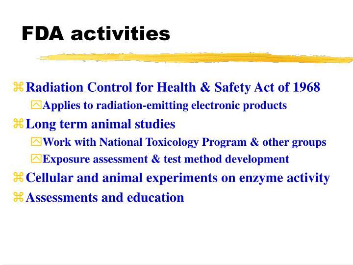 FDA activities