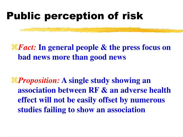 Public perception of risk