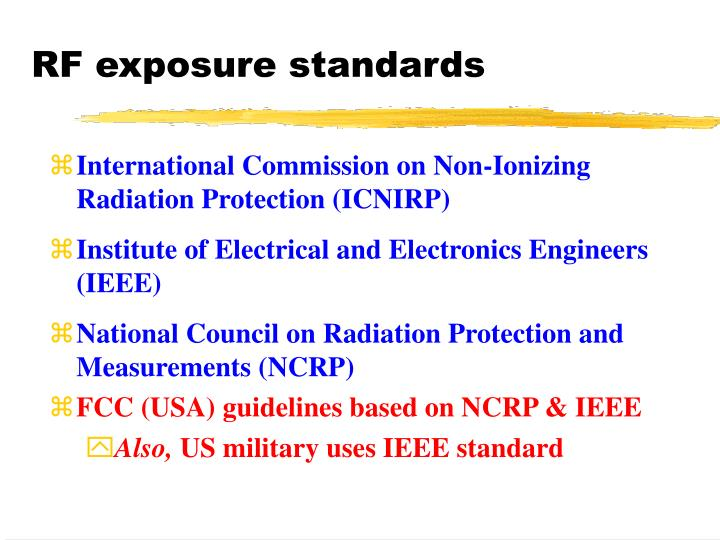 RF exposure standards
