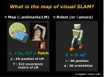 what is the map of visual slam