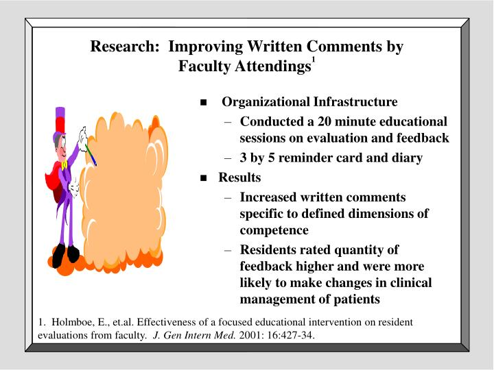 Research:  Improving Written Comments by