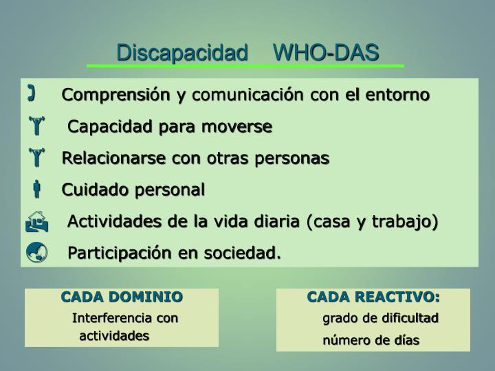 Discapacidad    WHO-DAS