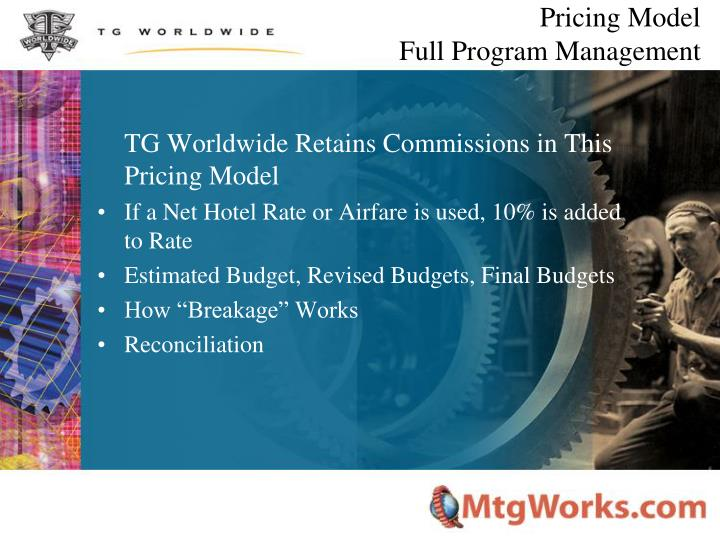 Pricing Model