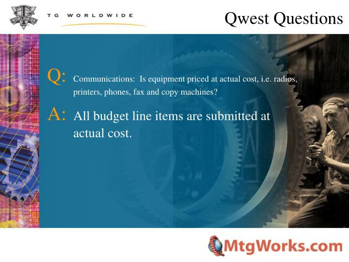 Qwest Questions