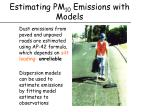 estimating pm 10 emissions with models