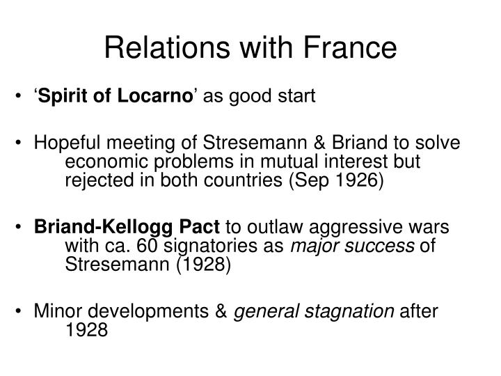 Relations with France