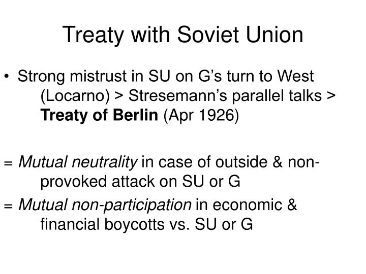 Treaty with Soviet Union