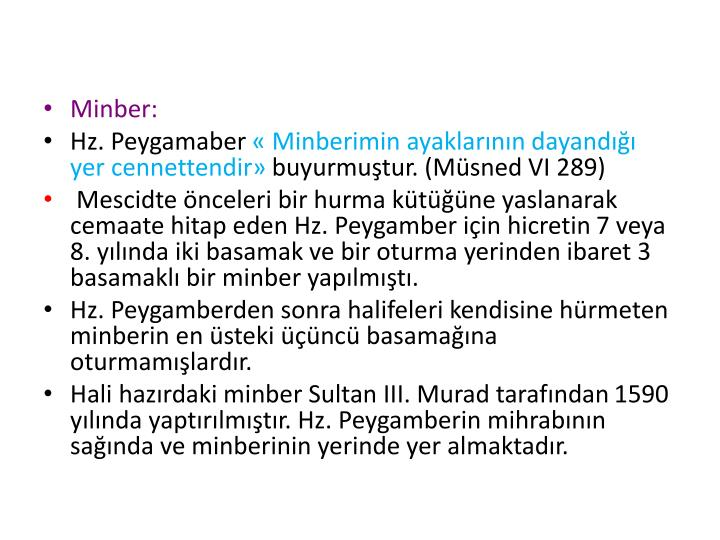 Minber: