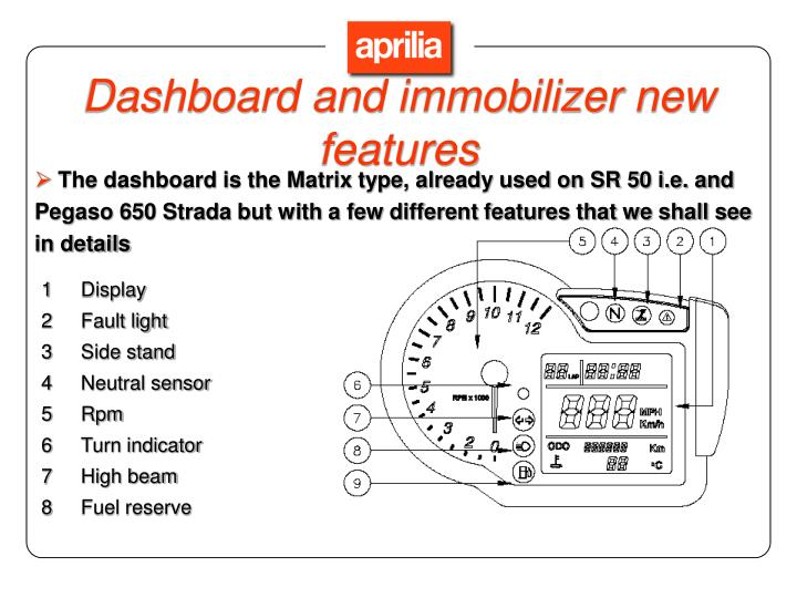 Dashboard and immobilizer new features