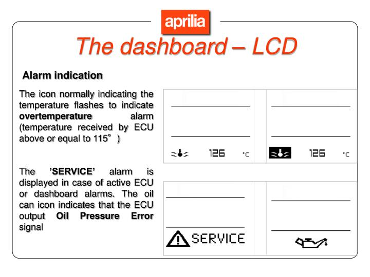 The dashboard – LCD