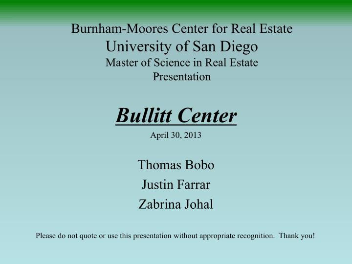 Burnham-Moores Center for Real Estate