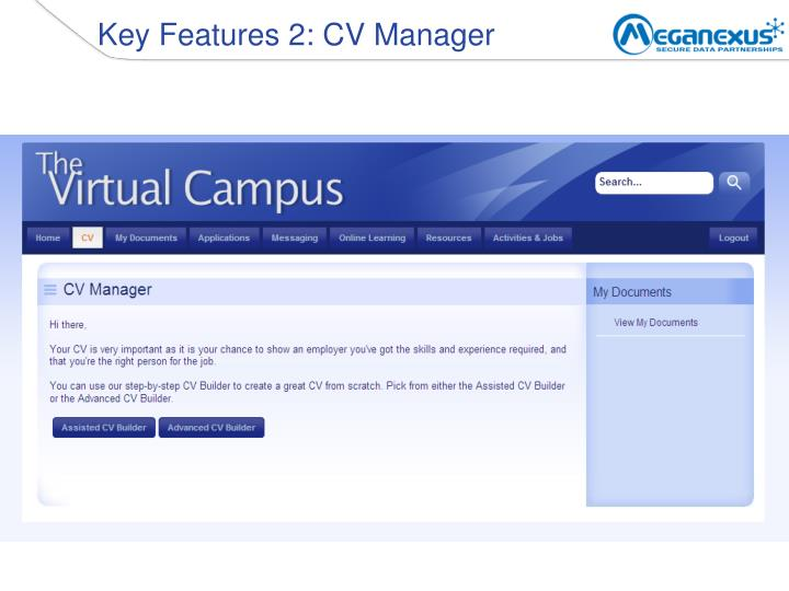 Key Features 2: CV Manager