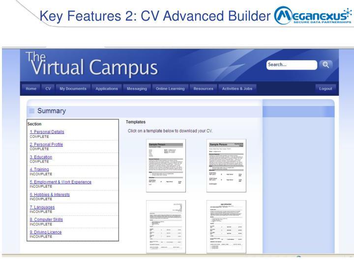 Key Features 2: CV Advanced Builder