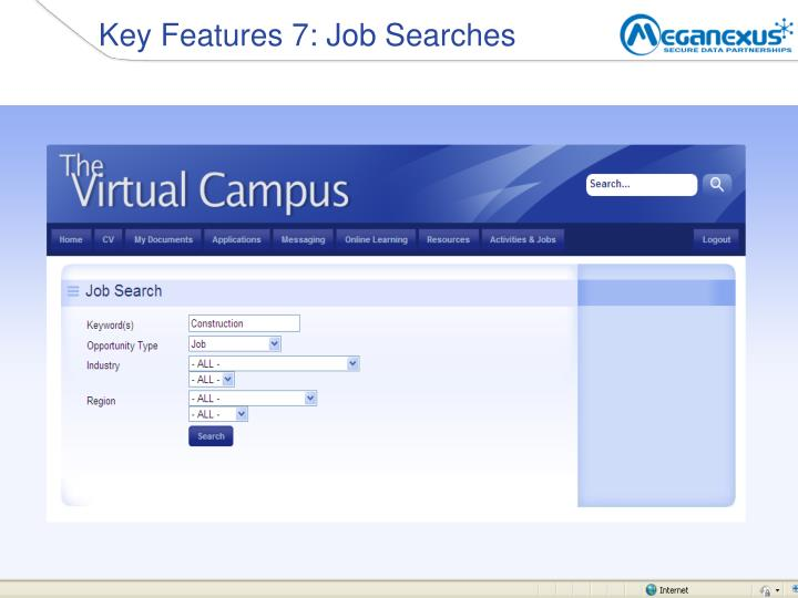 Key Features 7: Job Searches
