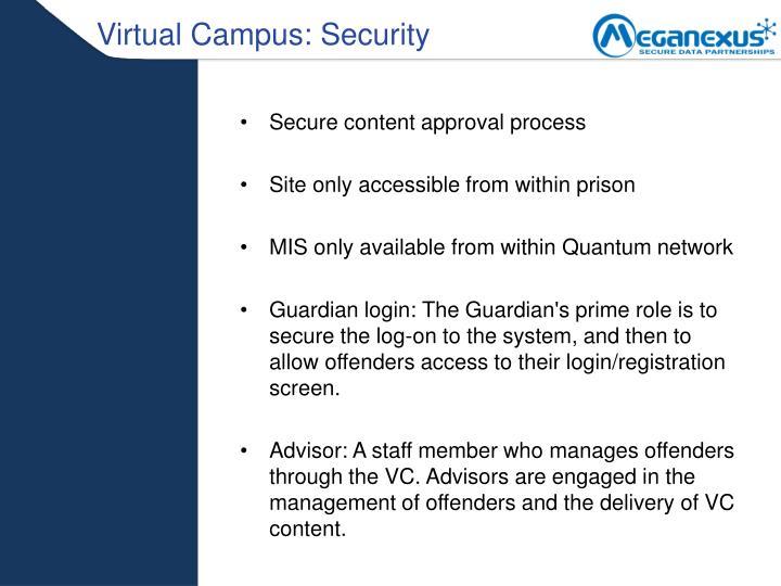 Virtual Campus: Security