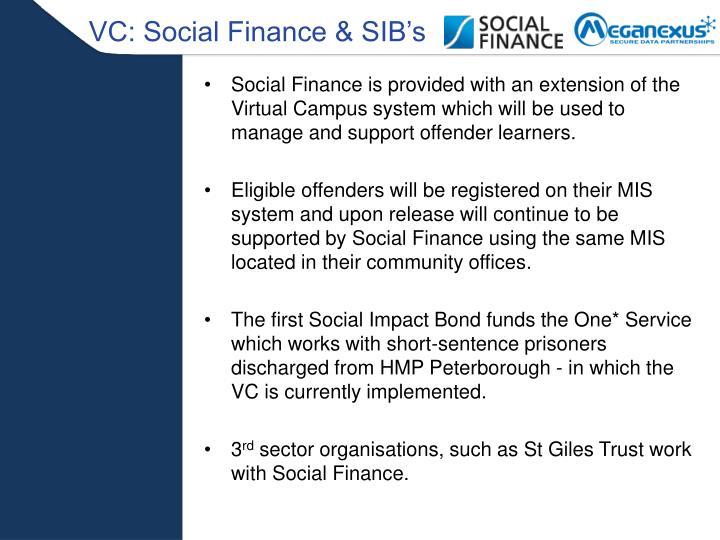VC: Social Finance & SIB's
